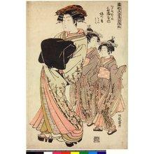 Isoda Koryusai: Edo-machi ni-chome Tagenya-uchi Ume-no-kaoru Sodeno Wakaba / Hinagata Wakana no Hatsumoyo - British Museum