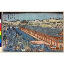 歌川豊春: Fukagawa sanjusangendo toshiya no zu - 大英博物館