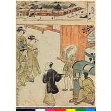 Katsukawa Shunsho: Dai-mon no sekisho / Yoshiwara Hakkei - British Museum