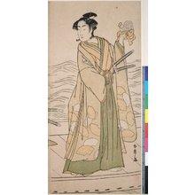 勝川春章: triptych print - 大英博物館