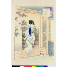 Mizuno Toshikata: Sanjuroku i kurabe 三十六佳撰 (The Thirty-six Beauties Compared) - British Museum