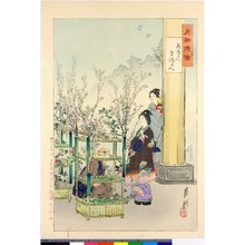 Ogata Gekko: Hana uru hito, hana ikeru hito 花売る人 花活る人 / Gekko zuihitsu 月耕随筆 - British Museum