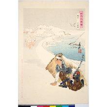 尾形月耕: Sakurada, Joshi tojo 桜田 上巳登城 / Nihon hana zue 日本花図絵 - 大英博物館