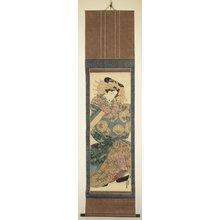 渓斉英泉: kakemono-e - 大英博物館