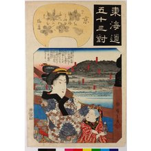 Utagawa Hiroshige: Kyoto 京 / Tokaido gojusan-tsui 東海道五十三対 (Fifty-three pairings along the Tokaido Road) - British Museum