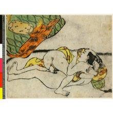 Hishikawa Moronobu: Koshoku ito yanagi 好色いと柳 - British Museum