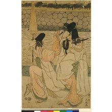 Shikyusai Eiri: pentaptych print - 大英博物館