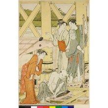 鳥居清長: triptych print - 大英博物館