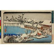歌川広重: Kameido Tenmangu keidai yuki / Toto Meisho - 大英博物館
