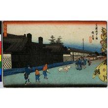 歌川広重: Shiba Shinsendo no zu 芝新銭堂之図 / Koto shokei 江都勝景 - 大英博物館
