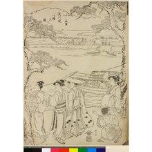 Katsukawa Shunzan: Sanmai-zuzuki Yodo-gawa tsutsumi Hachiman yo no zu - British Museum