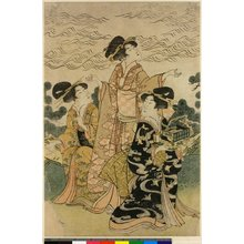 Hyakusai Hisanobu: triptych print - 大英博物館