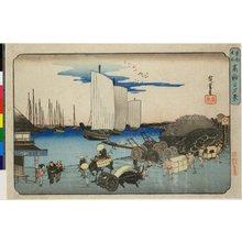 Utagawa Hiroshige: Takanawa no yukei / Toto Meisho - British Museum