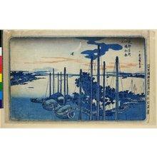 歌川広重: Tsukudajima hatsu-kakko / Toto Meisho - 大英博物館