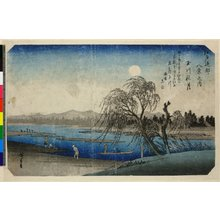 歌川広重: Tamagawa Shugetsu / Edo Kinko Hakkei no uchi - 大英博物館
