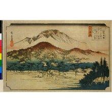 Utagawa Hiroshige: Mii bancho / Omi Hakkei no uchi - British Museum