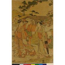 細田栄之: triptych print - 大英博物館