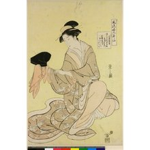 Hosoda Eishi: Bunya Yasuhide / Furyu Ryaku Rokkasen - British Museum