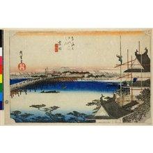 歌川広重: No 35 Yoshida Toyokawa-bashi / Tokaido Gojusan-tsugi no uchi - 大英博物館