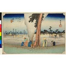 歌川広重: No 30 Hamamatsu fuyugare-zu / Tokaido Gojusan-tsugi no uchi - 大英博物館