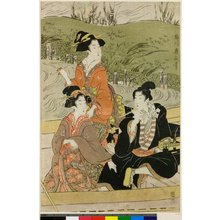 Kikugawa Eizan: pentaptych print - British Museum