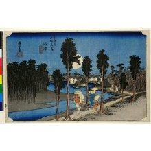 歌川広重: No 13 Numazu tasogare-zu / Tokaido Gojusan-tsugi no uchi - 大英博物館