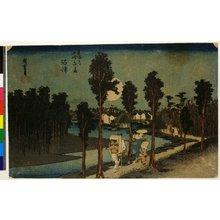 歌川広重: No 13,Numazu Tasogare-zu / Tokaido Gojusan-tsugi no uchi - 大英博物館