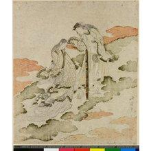 魚屋北渓: surimono (?) / print - 大英博物館