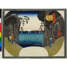 歌川広重: Soshu Enoshima ne no miya yori hon-miyani noborn wake-michi no zu / Shokoku Shima-zukushi - 大英博物館