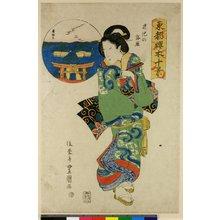 歌川豊重: Hasu-no-ike no rakugan / Toto Sakuragi Jikei - 大英博物館