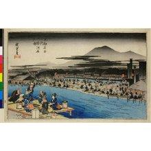 Utagawa Hiroshige: Shijo-kawara yusuzumi / Kyoto Meisho no uchi - British Museum