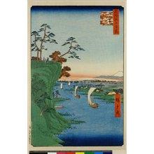 Utagawa Hiroshige: No 95,Konodai Tone-gawa fukei / Meisho Edo Hyakkei - British Museum