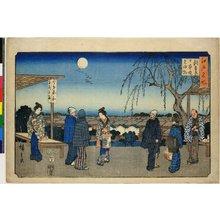 歌川広重: Shin-Yoshiwara Nihon-zutsumi mi kaeri yanagi / Edo Meisho - 大英博物館