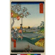 歌川広重: Zasshigaya Fuji-mi chaya / Fuji Sanju Rokkei - 大英博物館
