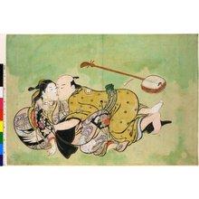 西川祐信: shunga / painting - 大英博物館