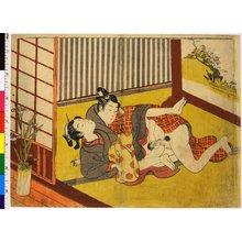 鈴木春信: shunga / print - 大英博物館