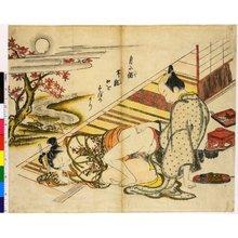 奥村政信: Someiro no yama neya no hinagata 染色のやま閨の雛形 (Mountains of Dyed Colours, Examples for the Bedroom) - 大英博物館