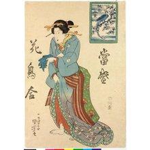 歌川国芳: Tosei kacho awase 當聖盛花鳥合 (Modern Comparisons of Flowers and Birds) - 大英博物館