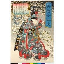 歌川国芳: Ne 子 (Rat) / Mitate junishi 美盾十二史 (Selection for the Twelve Signs) - 大英博物館