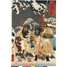 歌川国芳: Gentoku Miyuki chu Komei wo tazu no zu 玄徳三雪中孔明訪圖 / Tsuzoku Sangokushi no uchi 通俗三国志之内 (A Popular Romance of the Three Kingdoms) - 大英博物館