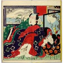 Utagawa: Omi hakkei (Eight Views of Lake Biwa) - 大英博物館