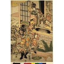 Katsushika Hokusai: Morokoshi Chu-O yakata no dan 唐土紂王館の段 / Sangoku yoko-den 三国妖狐伝 - British Museum