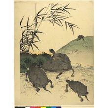 河鍋暁斎: diptych print - 大英博物館
