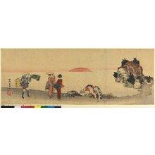 Katsushika Hokusai: surimono (?) / diptych print - British Museum
