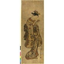 Okumura Masanobu: triptych print - British Museum
