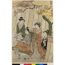 Hosoda Eishi: Furyu Yatsushi Genji - British Museum