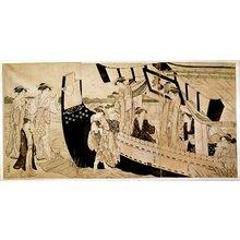 Torii Kiyonaga: triptych print - British Museum