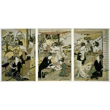 歌川豊広: Nigatsu sanmai tsuzuki 二月三牧續 (The Second Month) / Toyokuni Toyohiro ryoga juniko 豊國豊廣両画十二候 (The Twelve Seasons Painted by Toyohiro and Toyokuni) - 大英博物館