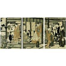 細田栄之: Asagao 朝顔 (Morning Glory) / Furyu yatsushi Genji 風流やつし源氏 (Genji in Modern Dress) - 大英博物館