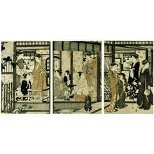 Hosoda Eishi: Asagao 朝顔 (Morning Glory) / Furyu yatsushi Genji 風流やつし源氏 (Genji in Modern Dress) - British Museum